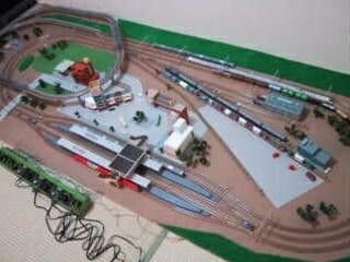 敷き布レイアウト(鉄道模型Nゲージ)
