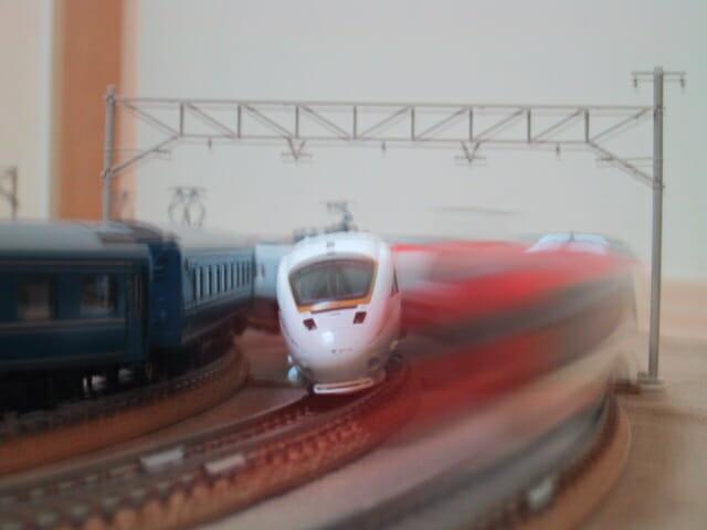鉄道模型かもめと成田エクスプレス
