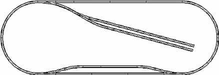 基本セット+待避線+引込み線のレイアウト