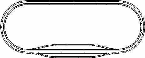 鉄道模型のレイアウト図(Nゲージ)