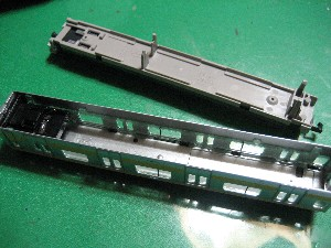 E231系(Nゲージ)の行き先方向幕の取り付け