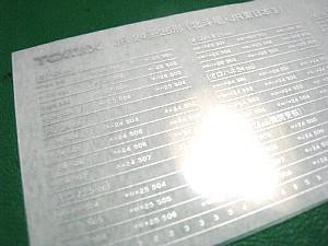 鉄道模型(Nゲージ)のインレタ・転写シートの貼り付け