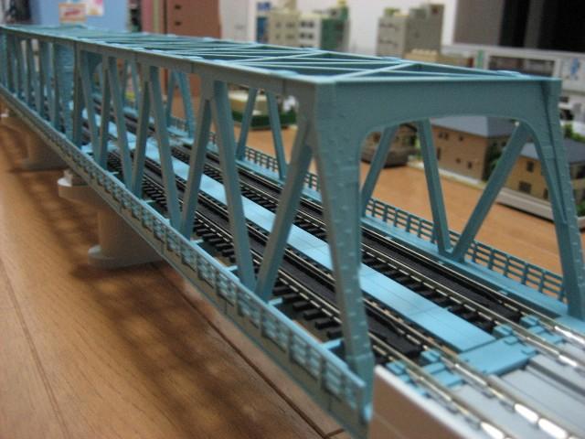 複線トラス鉄橋(ライトブルー)
