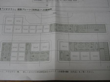 KATOジオタウンのストラクチャー配置例